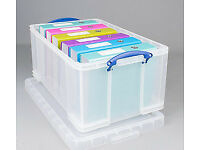 Storage Boxes - Really Useful Boxes - three 64L plus one 33L box - £20