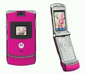 Motorola razr in hot pink