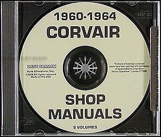 Corvair Repair Shop Manual CD 1960 1961 1962 1963 1964 Car Monza 95 Corvan  (Corvair Repair Manual)