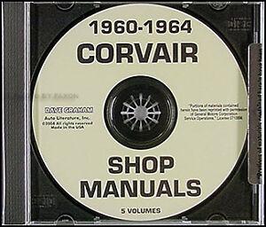 Corvair-Repair-Shop-Manual-CD-1960-1961-1962-1963-1964-Car-Monza-95-Corvan