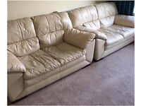2 Leather Sofas For Just £75!