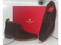 GRENSON MARCUS CHOCOLATE SHOES SIZE UK 8