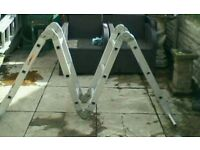 Set of multi purpose ladder folding