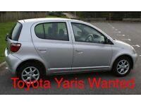 Wanted: Toyota Yaris 998cc 2001-2005