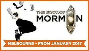Tickets to Book of Mormon -23rd march 2017 South Yarra Stonnington Area Preview