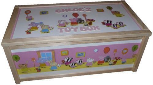 girls wooden toy box ebay. Black Bedroom Furniture Sets. Home Design Ideas