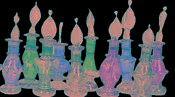 Egyptian Perfume Bottles Lot