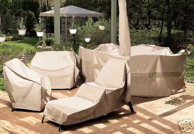 XL Outdoor Oval or Rect. Table & Chairs Patio Furniture Cover WITH UMBRELLA HOLE