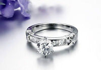 2 CARAT Crystal and 316L Stainless Steel Ring - Size 7