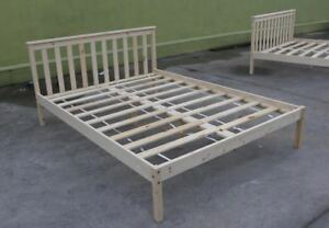 NEW Natural Pine Wood Wooden Bed Frame S/D/Q Child Adult Timber Melbourne CBD Melbourne City Preview