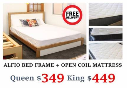 Brand New QUEEN Timber Bed & Mattress $349 Only | FREE DELIVERY