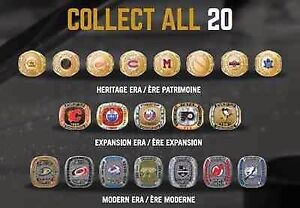 NHL Molson Hockey rings (full set)