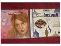 Karaoke cds (britney spears & xmas jackson 5)