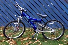 Boys dual suspension bicycle
