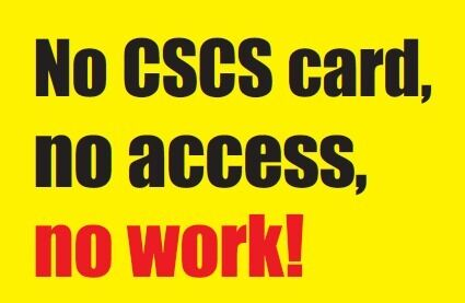 TO GET A GREEN CSCS CARD AS SOON AS POSSIBLE just drop in or call 07739385370 /02075118187 NOW