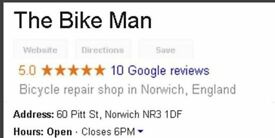 Bicycle Repairs in Norwich - The Bike Man