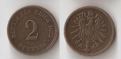 GERMANY 2 pfennig 1875 G