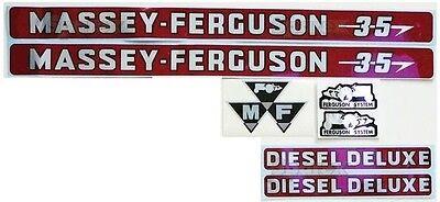 Massey-ferguson Mf 35 Mf35 Tractor Basic Decal Set Incl. Diesel Deluxe