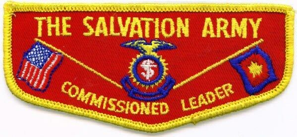 Salvation Army Commissioned Leader pocket flap patch used by Scouters