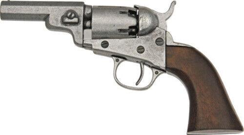 Denix Wood Grip Gray Barrel and Fittings Pocket Pistol Replica
