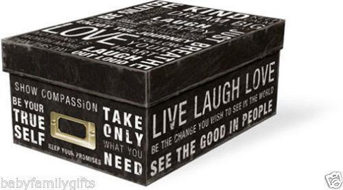 Decorative Cardboard Storage Boxes Ebay