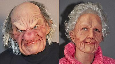 2 Superweiches Alter Mann & Damen Maske Erwachsene - Super Paare Kostüme