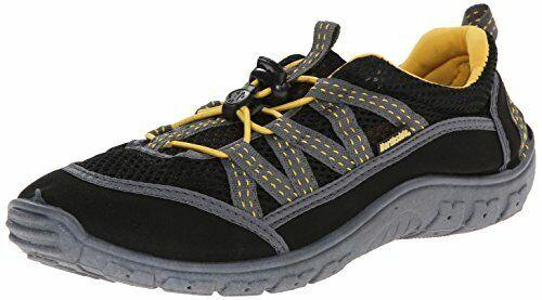 Northside Men's Brille II Slide Sandal, Black/Yellow, 10 M US BRILLE II-M