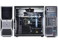 Dell Precision Workstation 690 16 GB Ram,2 X Dual Core 3.0 GHZ Intel Xeon 5160 Processors Windows 7