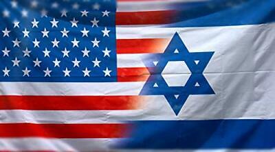 USA Israel US Flag American Israeli Friendship Flag 3x5 ft ישראל דגל