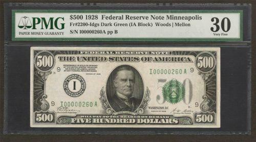 1928 500 Dollar Bill Ebay
