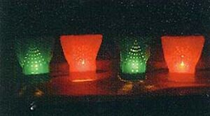 Christmas Electric Luminary Pathway Light Set Rc Brand Red