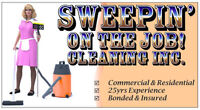Sweepin' on the Job! Cleaning Inc.