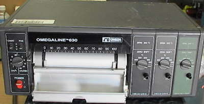 Omegaline 630-3k 3-channel Type K Strip Chart Recorder