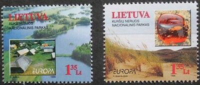 Europa, Parks and gardens stamps, 1999, Lithuania, SG ref: 699 & 700, MNH