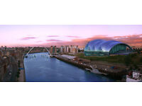 Newcastle Upon Tyne Sage Canvas Picture Panoramic