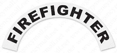 Firefighter Black Helmet Crescent Reflective Decal Sticker