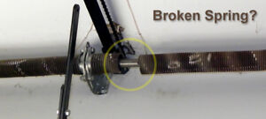 GARAGE DOOR REPAIR.. BROKEN SPRINGS,CABLES,MOTORS,ETC.