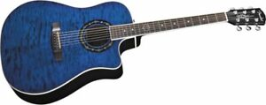 Fender Electric acoustic electric blue with amp an cord