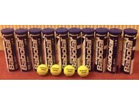 10 cans of Babolat tennis balls - very good condition - RRP £50