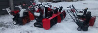 Selling snowblowers 5-11HP, 20-33 inch: Prices negotiable