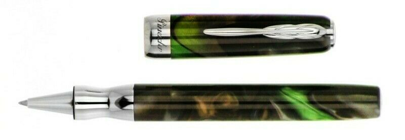 Pineider La Grande Bellezza Rollerball Pen, Dolomite Green, 5 Schmidt Refills Collectibles