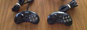 2 Six-Button Turbo Controllers for the Sega Genesis (MK-1470)