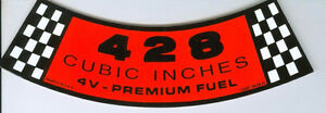 New OEM   Ford 428 Breather Decal