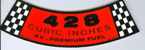 New OEM   Ford 428 Breather Decal Kawartha Lakes Peterborough Area image 1