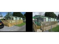 Caravan holiday 35 x 12, 2 bed – sleeps 4, situated close to Saundersfoot and Tenby