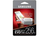 micro SD SDXC EVO Plus 256 GB + Adapter