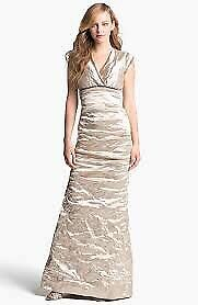Nicole Miller Metal Gold dress size 4