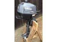 OUTBOARD ENGINE. YAMAHA 2.5HP. FOUR STROKE. SHORT SHAFT. 2003