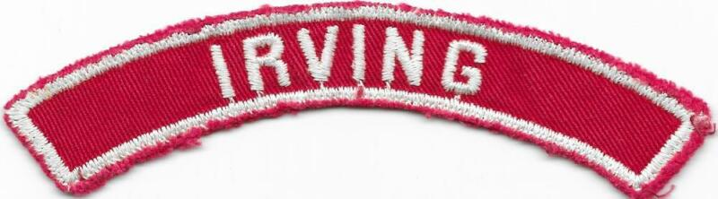 Irving Red and White RWS Community Strip Vintage Boy Scouts BSA