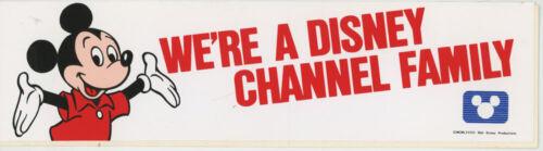 1983 WALT DISNEY CHANNEL MICKEY MOUSE BUMPER STICKER